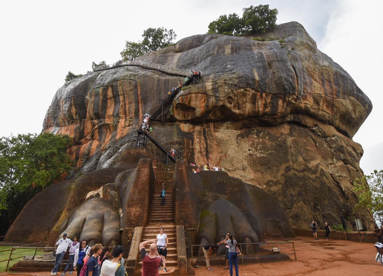 Das Löwenportal vor dem Aufstieg zum Palast