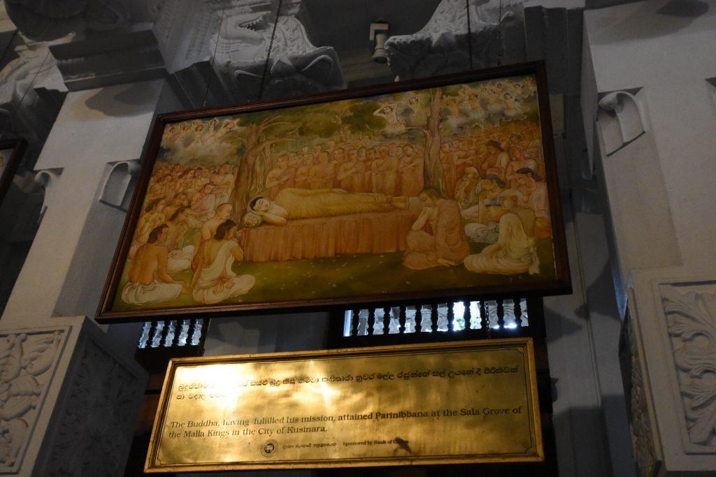 Gemälde mit Buddhas Sterbebett