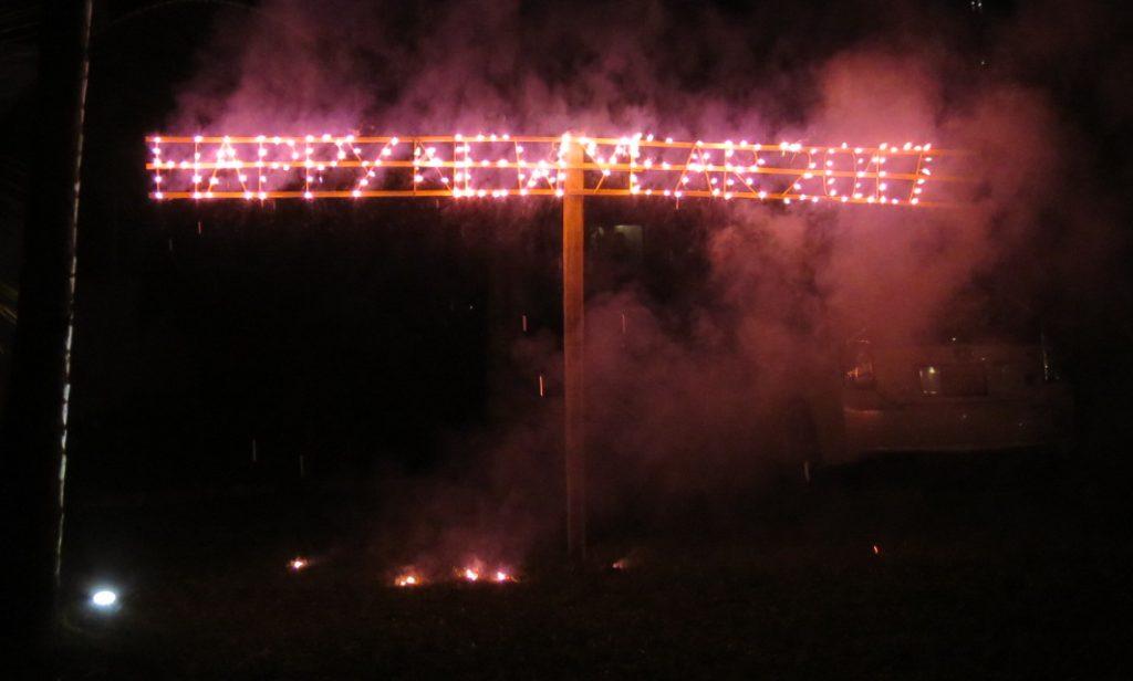 Happy New Year Feuerwerk