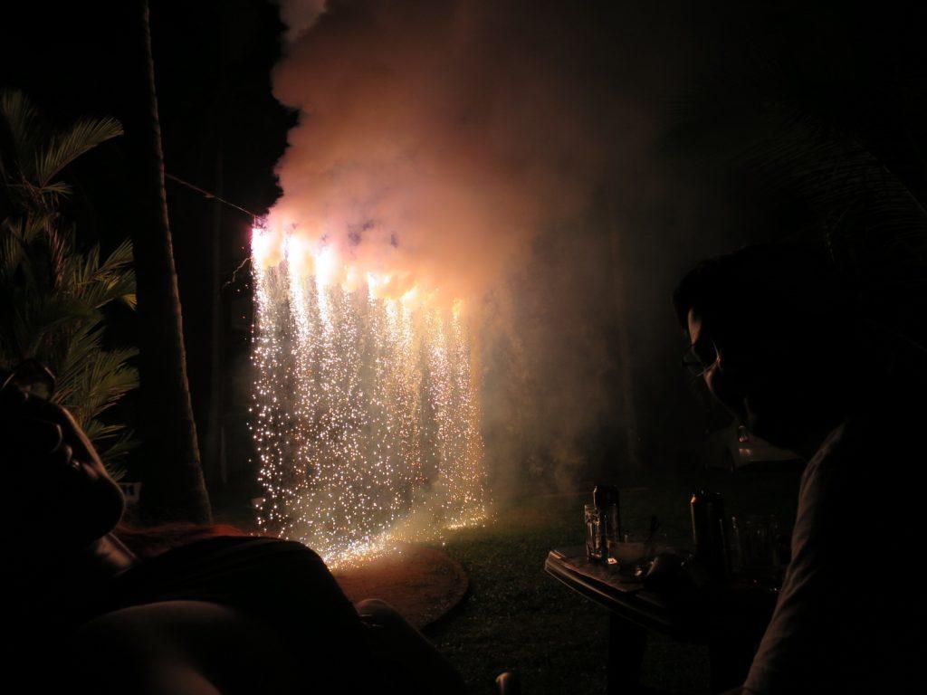 Wasserfall Feuerwerk