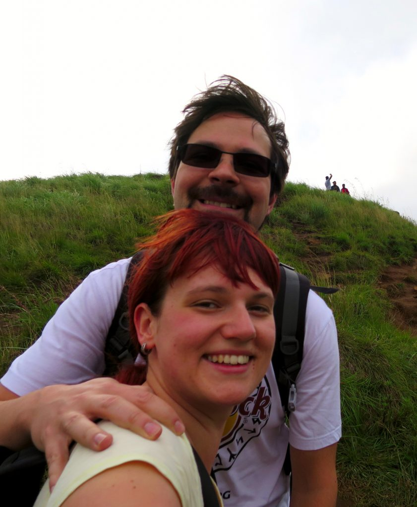 Happy am Adams Peak