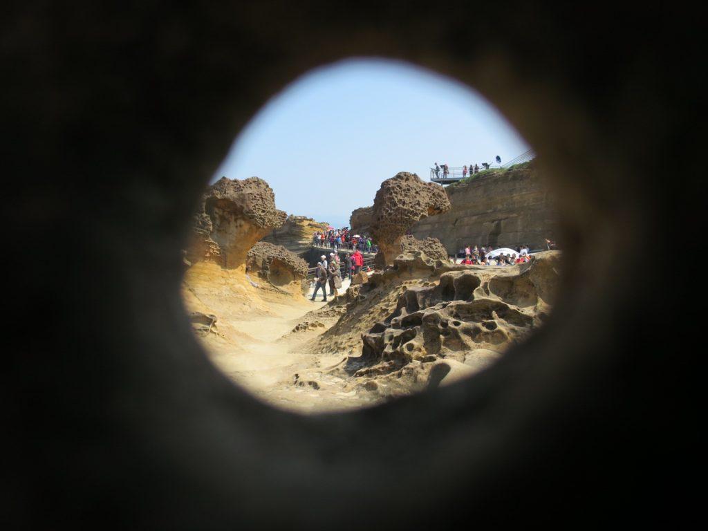 Sicheres Versteck vor dem Gedränge im Geopark