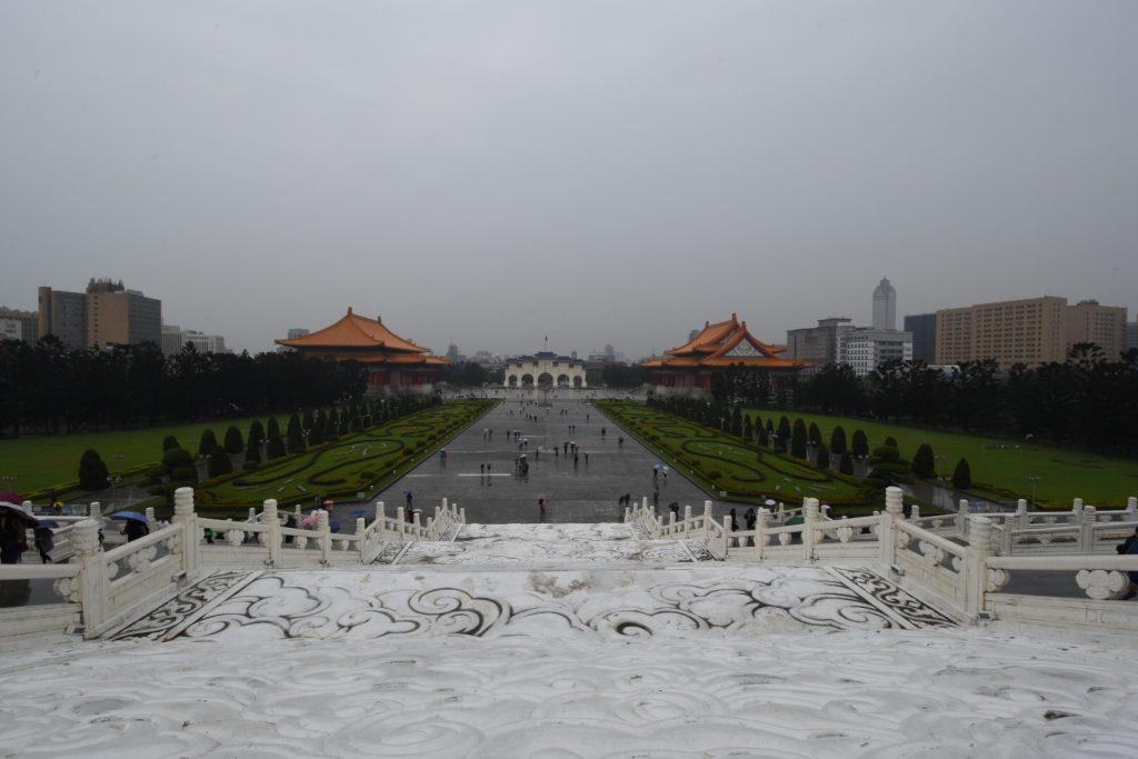 Blick von der Chaing Kai Shek Memorial Hall auf das umliegende Areal