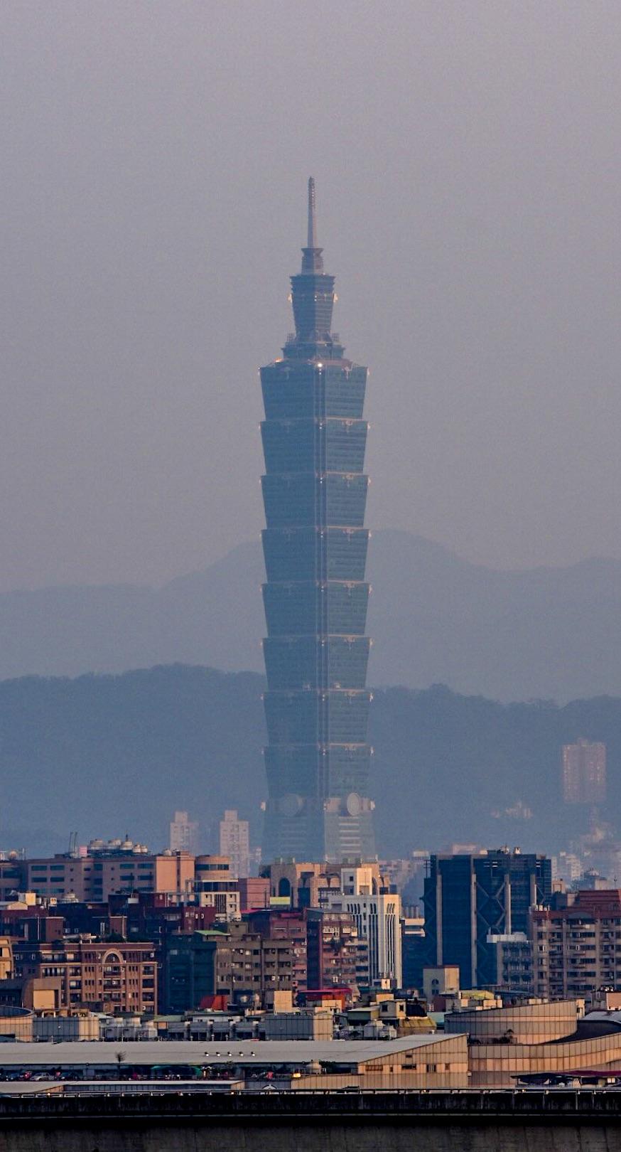 Taipeis höchstes Gebäude vom Grand Hotel aus aufgenommen